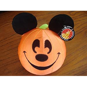 Click to buy Halloween Outdoor Lights: Disney Halloween Mickey Mouse Pumpkin Plush from Amazon!