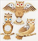Jolee's Boutique Steampunk Owls Dimensional Stickers