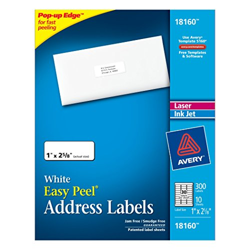 avery 30 up label template - avery address ink jet labels 1 x 2 5 8 inches white 30