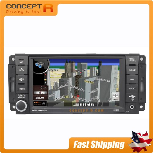 2008-2012 Jeep Liberty 2007-2014 Jeep Wrangler 2008-2013 Grand Cherokee In-Dash Dvd Gps Navigation Stereo Bluetooth Hands-Free Steering Wheel Controls Touch Screen Oem Mopar Mygig Replacement Deck Av Receiver Cd Player Video Audio Astrium Gee-0809 Gee-301