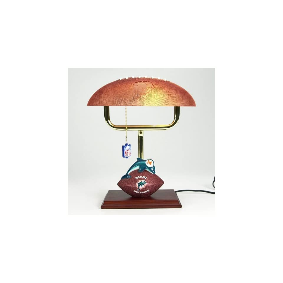 Dolphins NFL Mascot Desk Lamp w/ Football Shade (14)