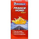 Michelin Map No. 724, Northern France, Scale 1:1,000,000 (French Edition)