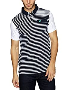 Lyle and Scott Green Eagle Men's Fine Stripe Polo - Navy, XX-Large (Old Version)