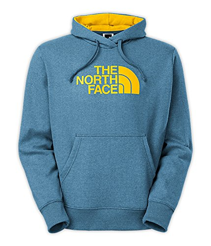 The North Face Half Dome Hoodie - Men's Snorkel Blue Heather/Canary Yellow Medium
