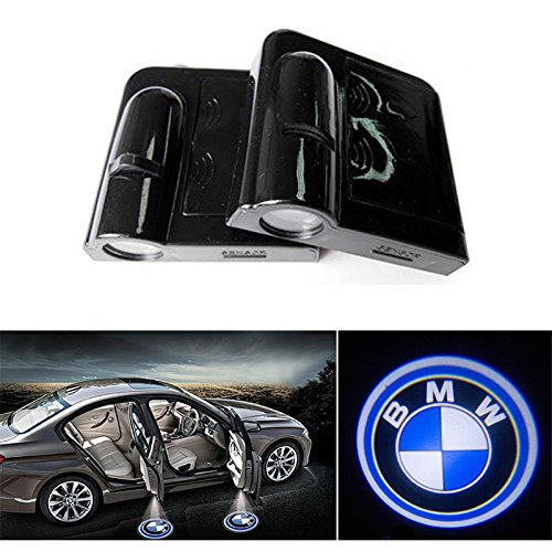 soondar 2 pack new design wireless bmw logo door light. Black Bedroom Furniture Sets. Home Design Ideas