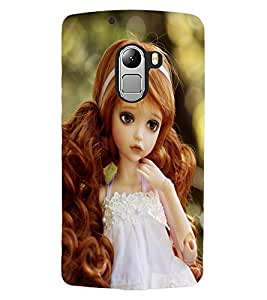 ColourCraft Lovely Doll Design Back Case Cover for LENOVO VIBE X3 LITE