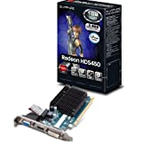 Sapphire 11166-51-20G AMD Radeon HD 5450 Silent 1GB DDR3 Graphics Card (DVI-I, DVI-D, PCI Express 2.0, 64-Bit, AMD Avivo HD)