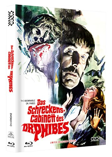 Das Schreckenscabinett des Dr. Phibes - uncut (Blu-Ray+DVD) auf 333 limitiertes Mediabook Cover C [Limited Collector's Edition] [Limited Edition]