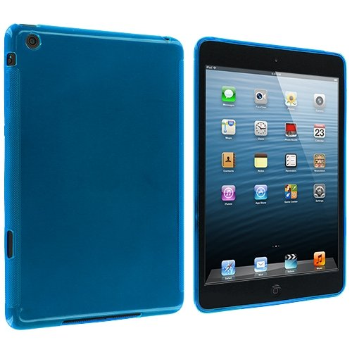 Cell Accessories For Less (Tm) Baby Blue Plain Tpu Rubber Skin Case Cover For Apple Ipad Mini + Bundle (Stylus & Micro Cleaning Cloth) - By Thetargetbuys front-717083