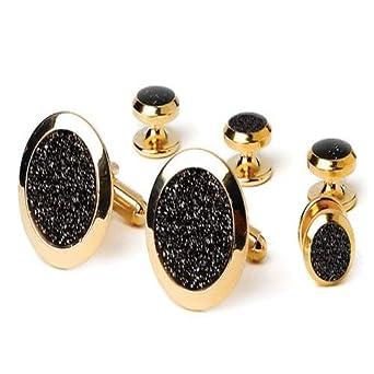 amazoncom black diamond dust tuxedo studs and cufflinks