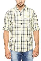 SPYKAR Men Cotton Lime Casual Shirt (XX-Large)