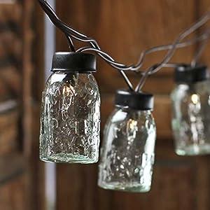 Box of 6 Mini Glass Mason Jars for Slipping on Lights