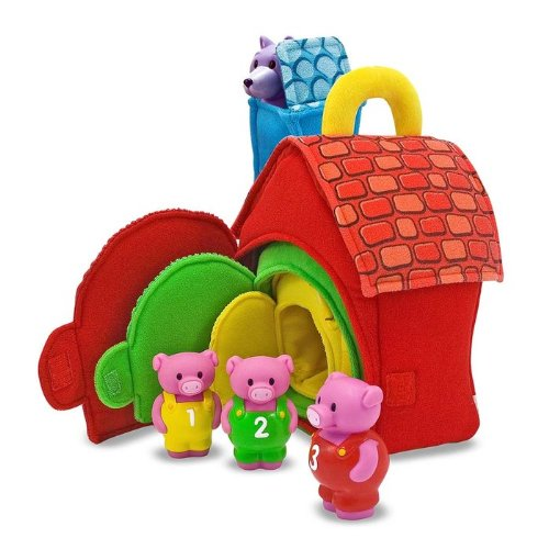 51l7fk3C48L Melissa & Doug Deluxe Three Little Pigs Play Set Soft Baby Toy