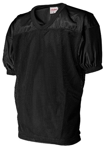 Rawlings Men's Fj9204 Football Jersey (Black, Large)