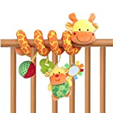 Giraffe Baby Crib Toy From Crib Critters - Wraps Around Crib Rail or Stroller - Baby Toy for Babies 3 to 6 Months and Older