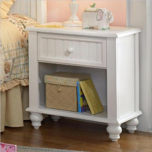 cheap hillsdale westfield white nightstand in off white