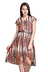New Sierra Women tai and dai print west elastic short sleeve dress