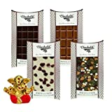 Chocholik Belgium Chocolate Gifts - Classic Collection Of Assorted Belgian Chocolate Bars With Small Ganesha Idol...