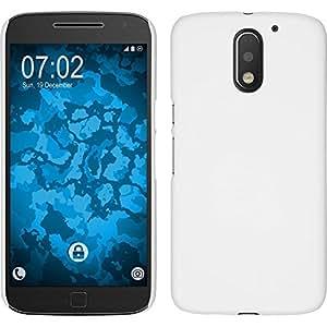 THE AMAZING Rubberised Matte Hard Case Back Cover For Motorola Moto E (3rd Generation) (White)