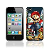 Colorful Printing (Mario VS Video Games) Aluminum Metal and Hard Plastic Hybrid Back Case for iPhone4 / iPhone 4S
