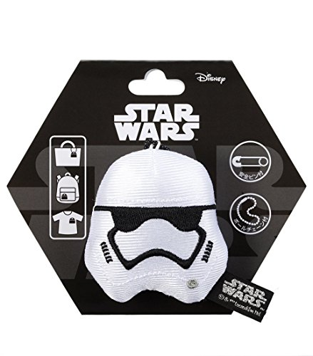 Japan Disney Official Star Wars the Force Awakens - First Order Stormtrooper Head Mascot Clip Pin Badge Limited Soft Plush Stuffed Toys Cushion Doll Plushie Botton Ball Chain Takara Tomy Arts