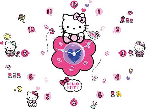 Worlds Apart 555HTT ReadyRoom Hello Kitty Tick Tock Teller Wall Stickers
