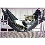 2-in-1-SummerWinter-Reversible-Pet-Cat-Cage-Hammock-Rabbit-Kitten-Hanging-Bed-Cat-Crib-Cradle-Radiator-Comforter-Basket-Cushion-Mat-Waterproof-Oxford-Fabric-Flannel-Support-Weight-up-to-15kg