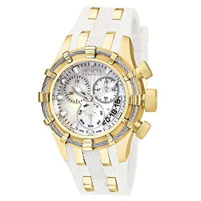 Invicta Women's 6948 Reserve Collection Bolt Chronograph White Polyurethane Watch