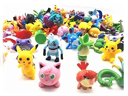 Ducomi® Pokemon - Collection de figurines jouets de personnages de dessins animés comme Pikachu, Charmander, Rondoudou et bien d'autres (48 pièces)