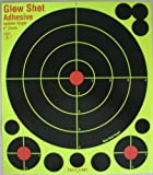 "8"" Adhesive Splatter Targets - GlowShot - 25 & 75 packs - DayGlo - See Your Hits Instantly - Gun and AirSoft Targets"