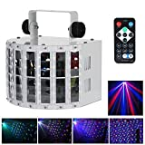 Lixada 24W DJ Lights 8 Colors LED Wide Beam Laser Strobe Light 6 channel Led DMX lighting with IR remote control metal casing Club Light home KTV disco stage effect Lighting (Color: Middle)
