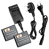 DSTE 2pcs SLB-0937 Rechargeable Li-ion Battery + Charger DC43U for Samsung CL5, CL50, i8, L730, L830, NV4, NV33, PL10, ST10 Digital Cameras
