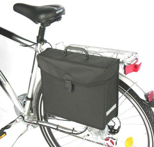 Fahrrad Seitentasche Gepäcktasche 34x15x30cm schwarz 63040
