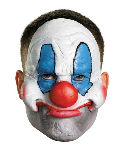 Disguise Costumes Chinless Evil Clown Vinyl Mask, Adult