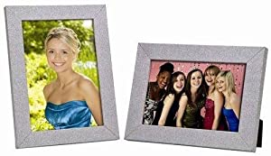 Bulk Buys Fancy 4 in. x 6 in. Silver Shimmer Photo Frame with Glass Cover - Case of 12