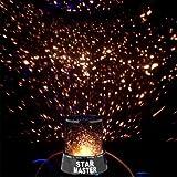 MKT Star Master Starry Moon Beauty Night Cosmos Projector Bed Side Lamp (Star Master-Black)
