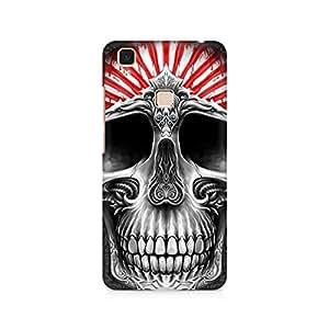 Mobicture Skull Art Premium Printed Case For Vivo V3 Max