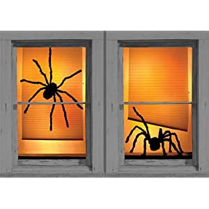 Shady Spiders Translucent Window Decorations