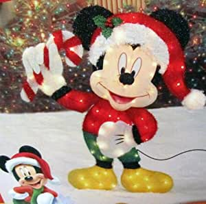 Disney 36 inch lighted iridescent mickey for Amazon christmas lawn decorations