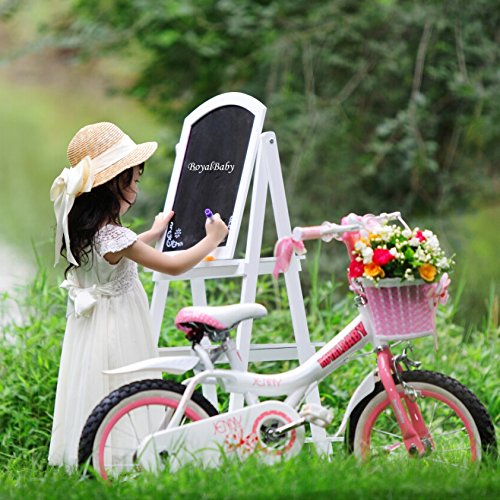 Royalbaby Jenny Princess Pink Girl's Bike with Training Wheels and Basket, Perfect Gift for Kids, 18 inch wheels 3