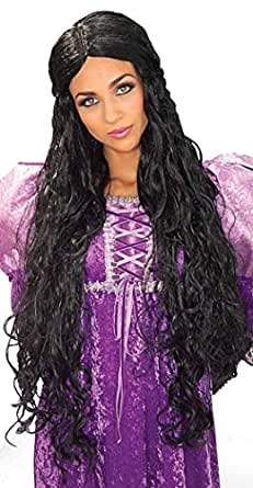 Forum Novelties Women's Medieval Queen Guinevere Wig, Black, One Size