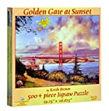 Keith-Brown-Golden-Gate-at-Sunset-500pc-Jigsaw-Puzzle