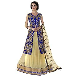 Aagaman Fashion Net Lehenga Cholis (TSN88008_Cream)