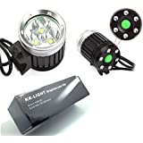AGM 3x XML T6 LED Bike Bicycle Headlight 4 Modes 3600 Lumens + Battery Pack + UK Charger