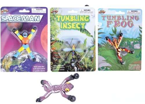 Four Piece Wall Tumbling Set (Frog, Insect, Space Man, Gecko) - 1