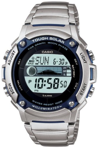 Casio Men's WS210HD-1AV Silver Stainless-Steel Quartz Watch with Digital Dial