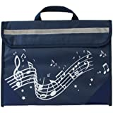 Wavy Stave Music Bag - Navy Blue