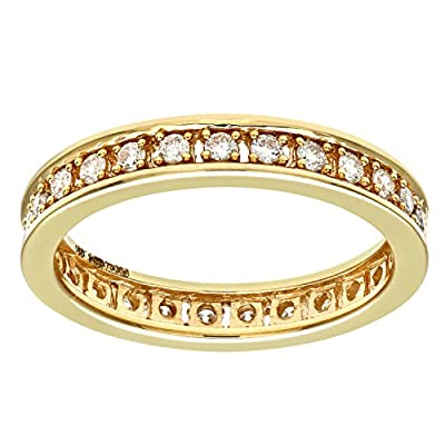 Naava 18ct Yellow Gold Half Carat Diamond Full Eternity Ring