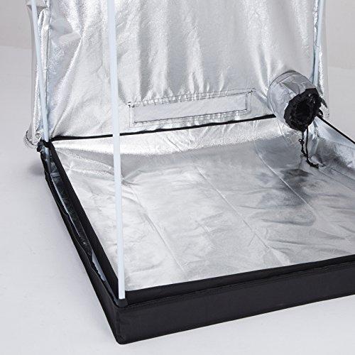 Ipyarmid 48 x48 x78 indoor grow tent room reflective 600d for Indoor gardening reflective material