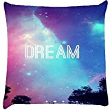 Snoogg Dream Universe Digitally Printed Cushion Cover Pillows 12 x 12 Inch